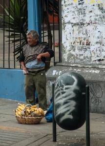 Lima banana street vendor.