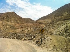 Mountain pass outside of Cieneguilla.