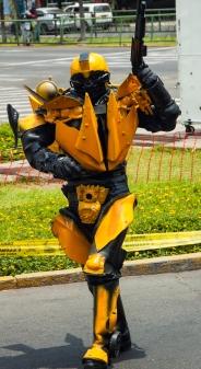 Lima Transformer street performer.