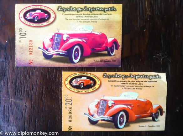 Car Museum Tickets