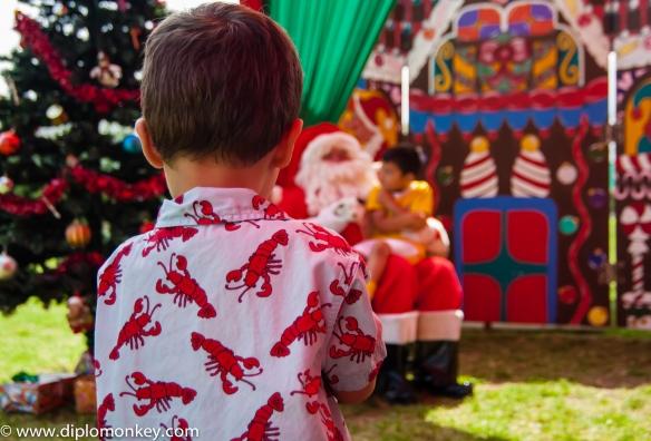 Santa at U.S. Embassy Lima