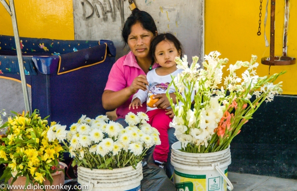 Musa Market Flower Lady and Daughter.