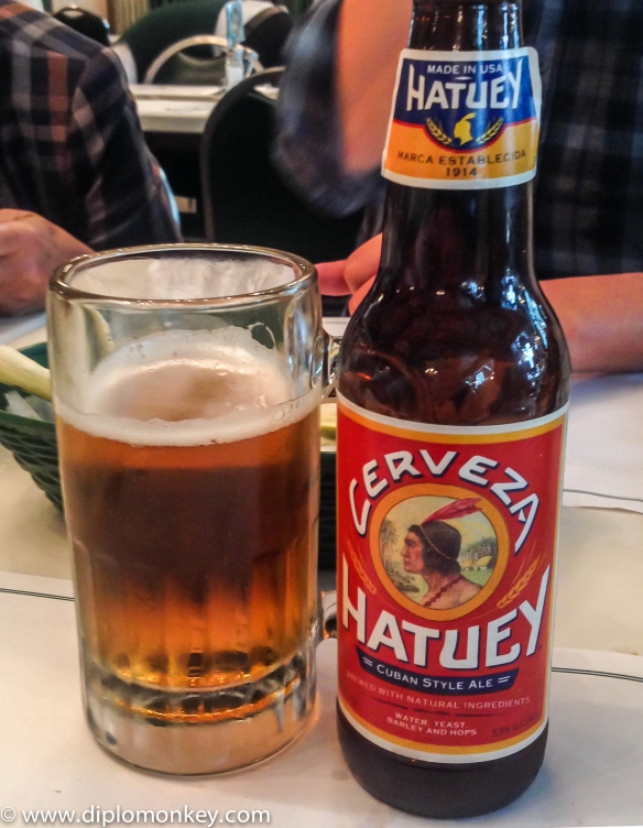 Hatuey Beer at Versailles Cafe