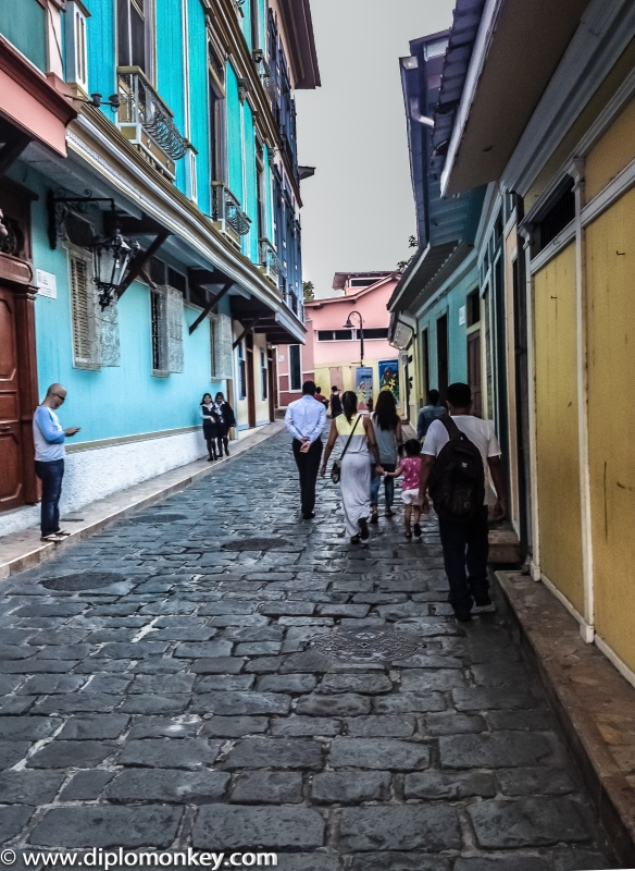 Guayaquil Old Town Street.