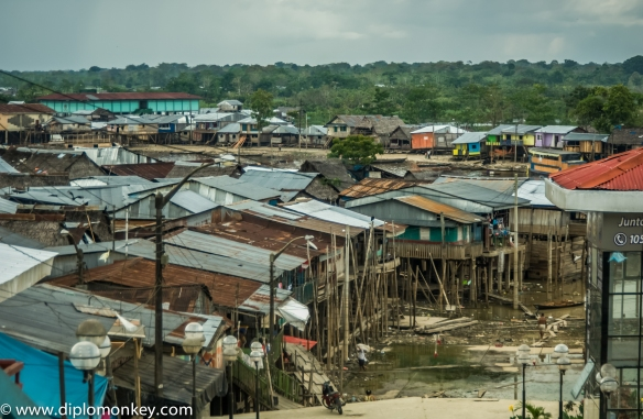 Iquitos' lively neighborhood of Belen - also known as the Amazon Venice.