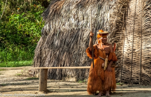 Yagua Chief armed with Punaka (blowgun).