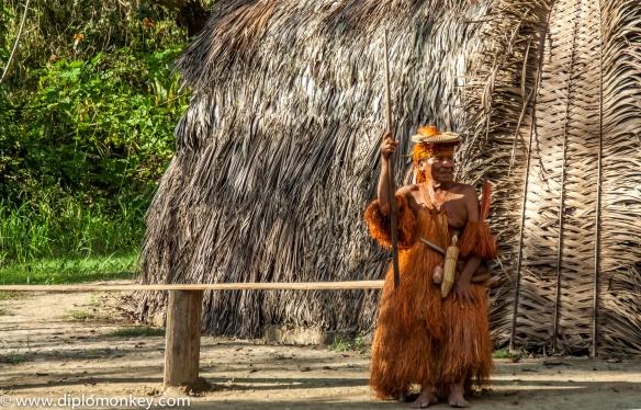 Yagua Chief armed with Punaka (blowgun).