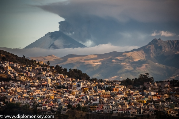 Cotopaxi volcano spewing ash